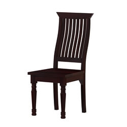 Colonial American Handcrafted Solid Wood Slat Back Dining Chair
