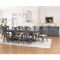 San Marino Solid Mahogany Wood 10 Piece Dining Room Set