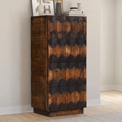Ellensburg Rustic Reclaimed Wood 4 Drawer Tall Bedroom Dresser