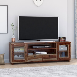 Dallas Ranch Rustic Solid Wood TV Media Stand
