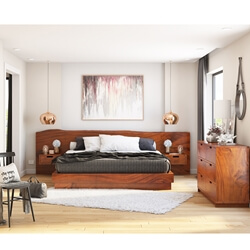 Batesville Live Edge 4 Piece Bedroom Set