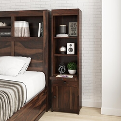 El Centro Rustic Solid Wood Bookcase Nightstand