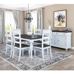 Morrilton Mahogany Wood Two-Tone 8 Piece Dining Room Collection