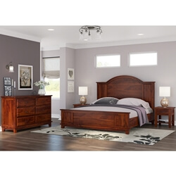 Sierra Nevada Rustic Solid Wood 4 Piece Bedroom Set