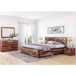 Walsenburg Checkered 4 Piece Bedroom Set