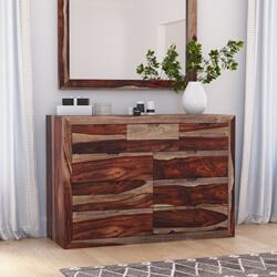 Walsenburg Rustic Solid Wood Bedroom Dresser with 9 Drawers