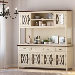 Carrollton Two Tone Mahogany Wood Dining Room Kitchen Hutch