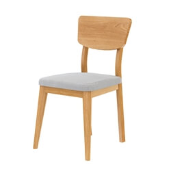 Cierra Teak Wood Mid Century Dining Chair with Upholstered Seat