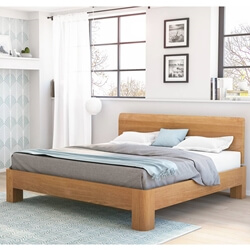 Rebersburg Solid Teak Wood Platform Bed