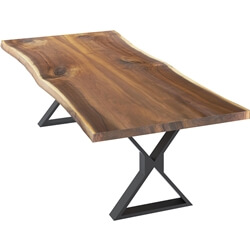 Laconia Solid Wood Handcrafted Single Slab Live Edge Dining Table