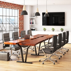 Rectangle Suar Wood Live Edge 12 Seater Conference Table