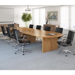 Belem Solid Teak Wood Large Oval Conference Table