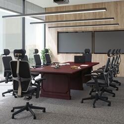 Sherbrooke Solid Mahogany Wood Rectangular Conference Table