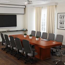 Manaus Modern Teak Wood Double Pedestal Large Conference Table