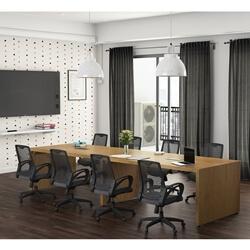 Bogota Solid Teak Wood Rectangle Large Conference Table