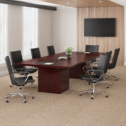 Modern Solid Mahogany Wood Rectangular Conference Table