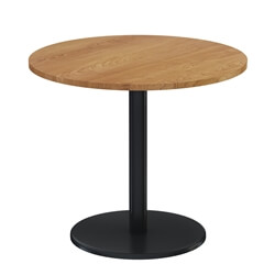 Teak Wood & Iron Round Restaurant Table