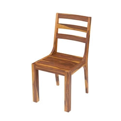 San Mateo Rustic Solid Wood Ladder Back Dining Chair