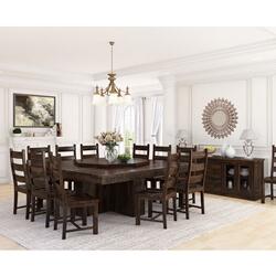 Modern Pioneer Solid Wood Dining Room Set