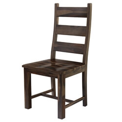 Modern Pioneer Rustic Solid Wood Ladder Back Dining Chair