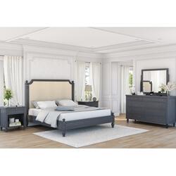 Marysville Mahogany Wood 4 Piece Bedroom Set