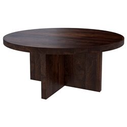 Algona Rustic Solid Wood Round Dining Table