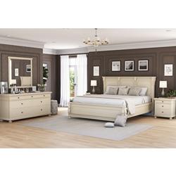 Otranto Mahogany Wood 4 Piece Bedroom Set