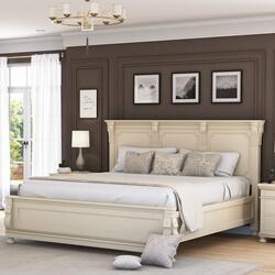 Otranto Mahogany Wood Platform Bed