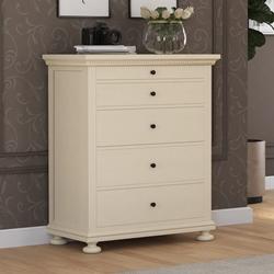Otranto Mahogany Wood 5 Drawer Tall Dresser