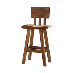 Naples Solid Wood Bar & Counter Chair with Backrest