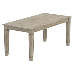 Haysi Rustic Solid Wood Handcarved Farmhouse Dining Table