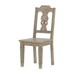 Haysi Rustic Solid Wood Georgian Backrest Dining Chair