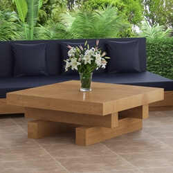 Onslow Teak Wood Outdoor Square Coffee Table