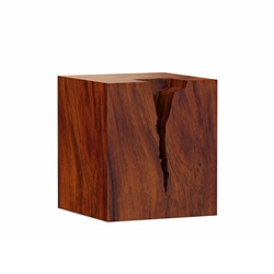 Lamoni Solid Suar Wood Block Nightstand