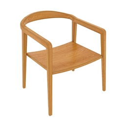 Scottsboro Solid Teak Wood Modern Neva Dining Armrest Chair