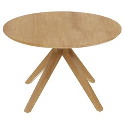 Montecito Teak Wood Cross Leg Modern Round Dining Table