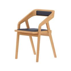 La Habra Teak Wood Handcrafted Modern Dining Armrest Katakana Chair