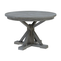 Alamosa Solid Teak Wood Grey Round Dining Table