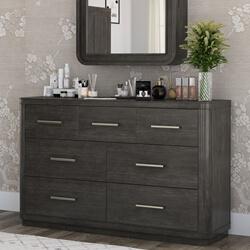 Estherville Mahogany Wood 7 Drawer Large Bedroom Dresser
