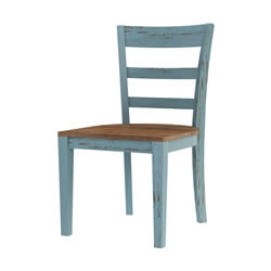Conway Farmhouse Two Tone Solid Wood Dining Chair