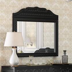 Lahaina Solid Teak Wood Hand Carved Moroccan Style Mirror Frame