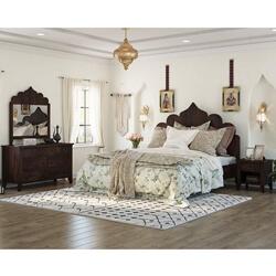 Orillia Rustic Solid Wood 4 Piece Moroccan Bedroom Set