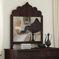 Orillia Solid Wood Moroccan Mirror Frame with Multifoil Arch