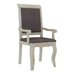 Pennsylvania Solid Wood Queen Anne Farmhouse Upholstered Dining Chair