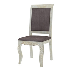 Pennsylvania Solid Wood Queen Anne Antique Upholstered Dining Chair