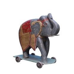 43 Inch Hand Painted Elephant Figurines Decor