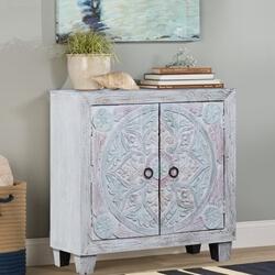 Frigiliana Two-tone Solid Wood Handcrafted Storage Cabinet