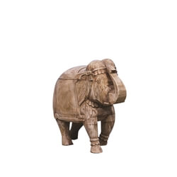Solid Wood Handcrafted Elephant Figurines Decor Accent