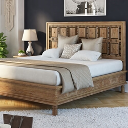 Morna Solid Wood Traditional Platform Bed