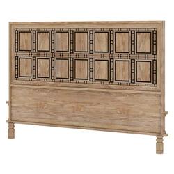 Morna Highback Traditional Solid Wood Bed Headboard